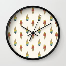 Rainbow Ice Cream Wall Clock