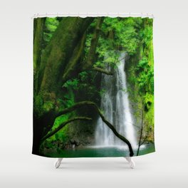 Waterfall in Azores islands Shower Curtain