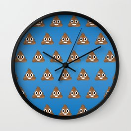 Smiley Poop Wall Clock