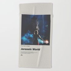 Jurassic World Film Poster No 4 Beach Towel