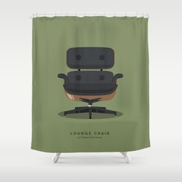 Lounge Chair - Charles & Ray Eames Shower Curtain