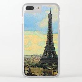 Watercolor Dream of Paris Clear iPhone Case