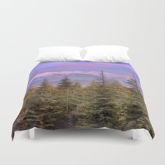 """""""At the mountains"""" Duvet Cover"""