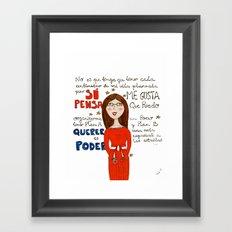 Chica Organizada Framed Art Print