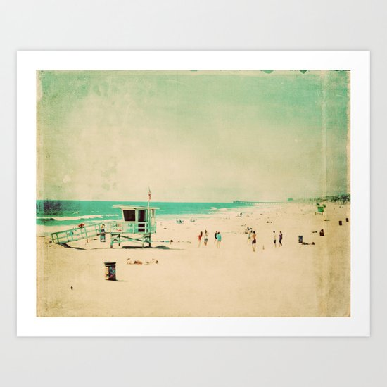 Nostalgia. Hermosa Beach photograph Art Print