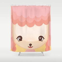 Pink Poodle - Dog Lovers Kids Poster Shower Curtain