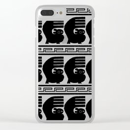 Chan Chan pattern - black and white Clear iPhone Case