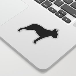 Boston Terrier Silhouette(s) Sticker