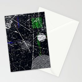 Abstract Black and White Etching Design Stationery Cards