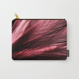 Beautiful abstract red feathers on dark background and black feather texture on red pattern and red background, pink feather background Carry-All Pouch