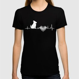 Jack Russell Terrier Heartbeat Funny Gift Dog Lover T-shirt