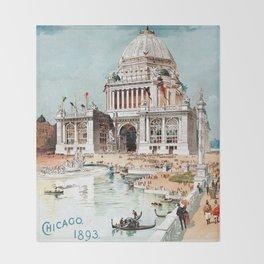 Vintage 1893 Chicago World's fair expo Throw Blanket