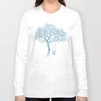 kids Long Sleeve T-shirts featuring The Start of Something by David Fleck