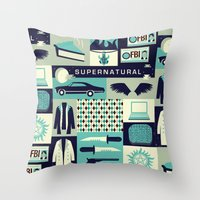 risa rodil Throw Pillows featuring Carry on my wayward son by Risa Rodil