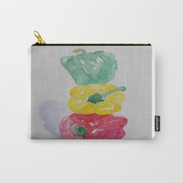 Stacked Peppers Carry-All Pouch