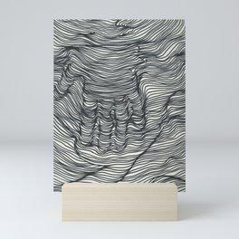seismic waves Mini Art Print