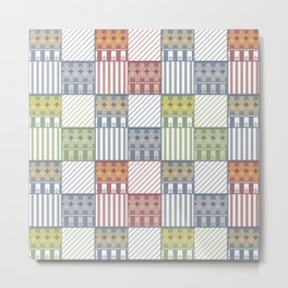 Fashionable patchwork . Metal Print