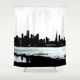 NYC Skyline View Shower Curtain