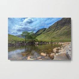 River Etive, Scotland Metal Print