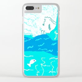 Female  Triton holding a horn Clear iPhone Case