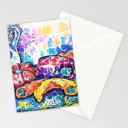 12,000pixel-500dpi - Paul Signac - Still Life with Jug - Digital Remastered Edition Stationery Cards