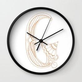 Fancy G Wall Clock