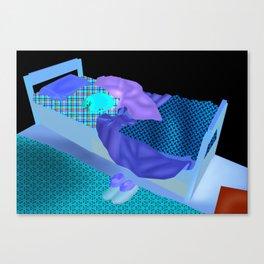 A good day's sleep Canvas Print