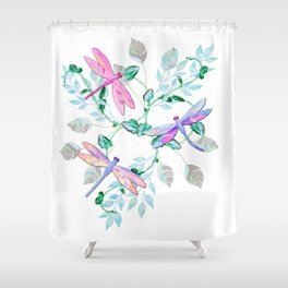 Dragonfly in Flight Shower Curtain