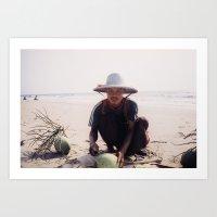 Coconut Salesman Art Print