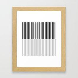 The Piano Black and White Keyboard Framed Art Print