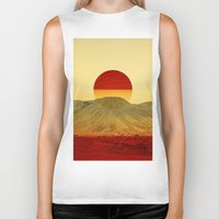 outdoor Biker Tanks featuring Warm abstraction by Stoian Hitrov - Sto