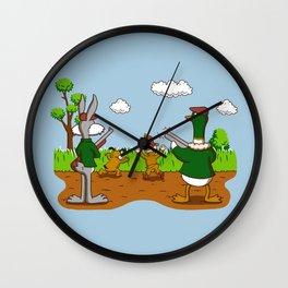 Hunter Hunted Wall Clock