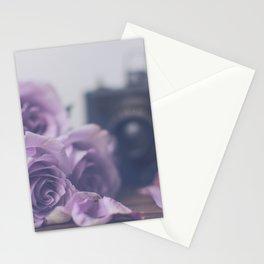 Photogenic Purple Roses Stationery Cards