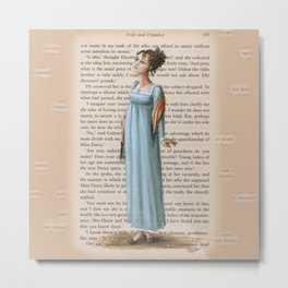 Jane Austen - Elizabeth Bennet Metal Print