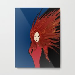 Fire Woman Metal Print