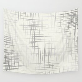 Crosshatch Silver Wall Tapestry