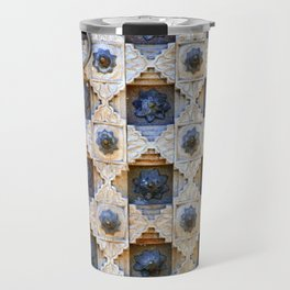 Wood Door Texture Travel Mug