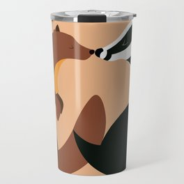 The Pine Marten and the Badger Travel Mug