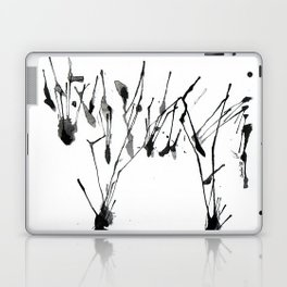 zebra ink splatter Laptop & iPad Skin