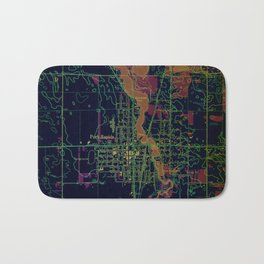 Park Rapids old map year 1969, united states old maps, colorful art Bath Mat