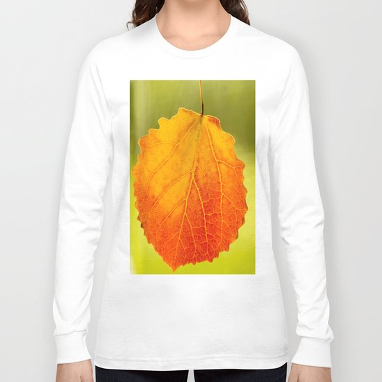 Colorful Autumn Leaf Long Sleeve T-shirt