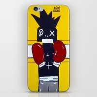 basquiat iPhone & iPod Skins featuring Boxer Basquiat by TheArtGoon