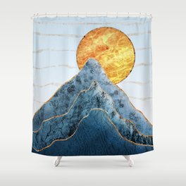 Sunset in the Volcanic Mountains Shower Curtain