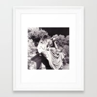 oakland Framed Art Prints featuring Oakland Angel by Leviathan Design Group