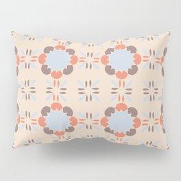 Blue Retro Tile Pillow Sham
