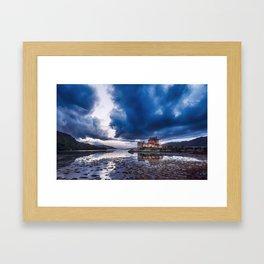 Stormy Skies over Eilean Donan Castle 2 Framed Art Print