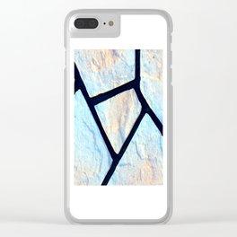 stone black line uneven ocean blue brown pattern Clear iPhone Case