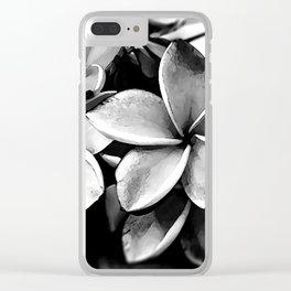 Tropicals B&W Clear iPhone Case