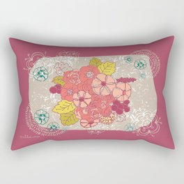 Vintage flowers bunch Rectangular Pillow