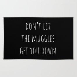Don't Let the Muggles Get You Down (Black) Rug